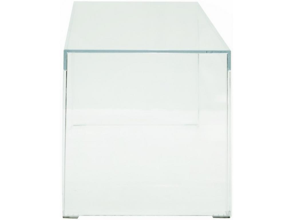 Tavolino Invisible Side.Tavolino Invisible Side Kartell Trasparente Noleggio