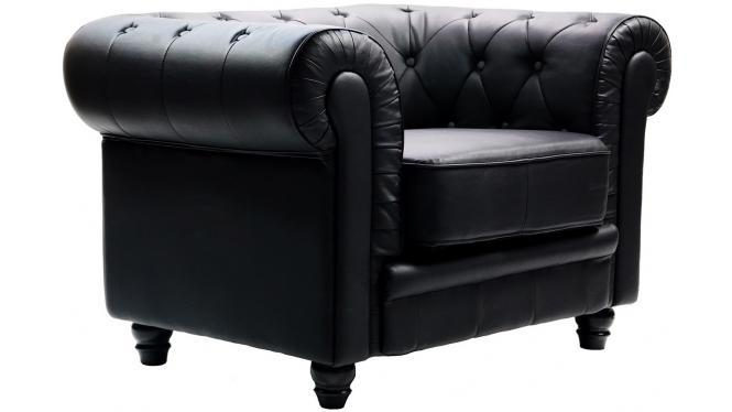 Poltrona Chesterfield Nera