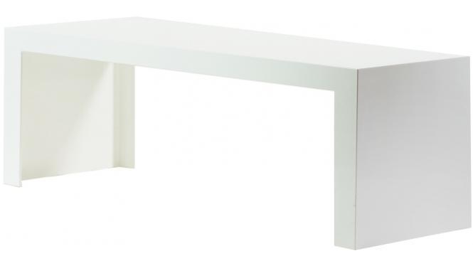 Tavolino Invisible Side Kartell Bianco