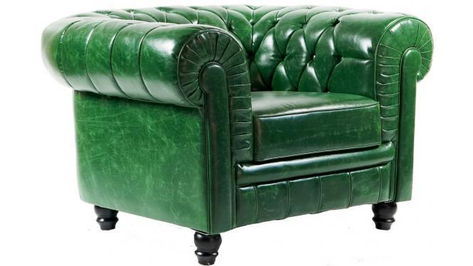 Poltrona Chesterfield Verde